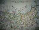RUSSIE, Europe et Asie, carte du 18ème siècle
