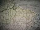 BRÉSIL, Amérique du Sud, carte géographique du 18ème siècle