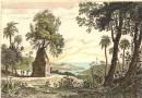 MADAGASCAR : PORT LOUIS DANS L'ILE STE MARIE, Afrique, gravure a