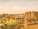 LA BASTILLE, Paris, France, Frankreich, stich, gravure ancienne,