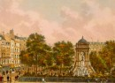 SQUARE DES INNOCENTS, Paris, France, Frankreich, Francia, gravur