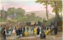 BAL DE PAYSANS, Marly le Roi, gravure ancienne, Francia, Frankre