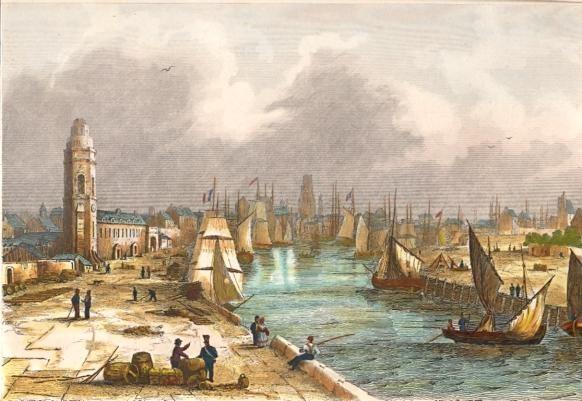 L'autre chemin  (Terminée) Dunkerque-france-port-naval-maritime-old-print-engraving