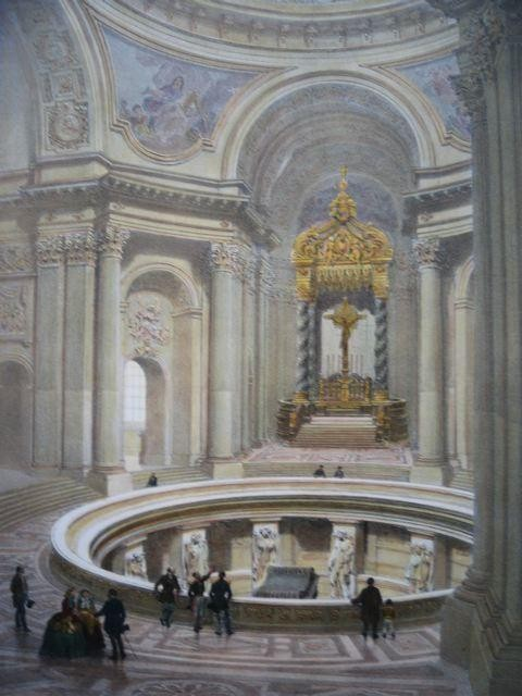 Les invalides int rieur france paris lithographies for Interieur frans