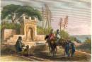 ALGÉRIE : FONTAINE PRÈS D'ALGER, Afrique du Nord, algérie, gravu