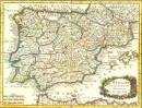 L'ESPAGNE, carte, carte du 18° siècle, Espana, karte