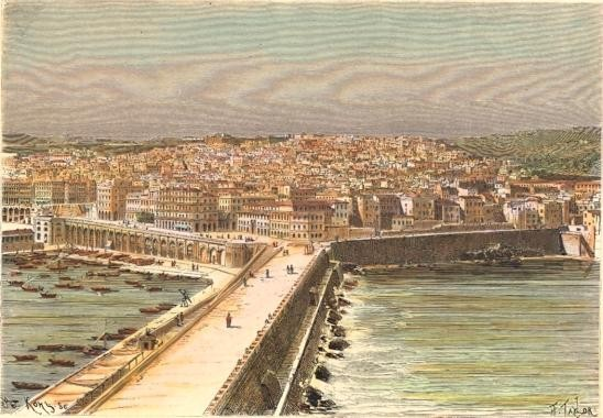 ALGÉRIE : ALGER, Afrique du Nord, Algérie, gravures anciennes, s