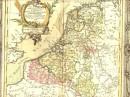 PAYS-BAS, FRANCE, AUTRICHIENS ET HOLLANDAIS, carte géographique