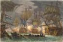 COMBAT DE TRAFALGAR, Angleterre, marine, bataille navale, combat