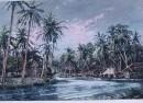 BORNEO HOLLANDAIS - vue prise sur la rivière amendait, à KENDANGAN