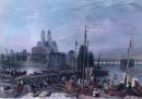 CANAL ENTRE LOIRE & CHER, France, Tours, gravures anciennes, sti