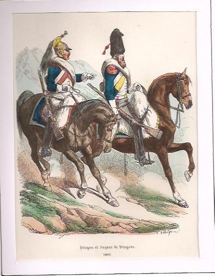 DRAGON ET SAPEUR DE DRAGON 1809