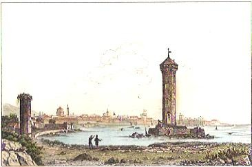 LIVOURNE, engraving, print, plates, Italy
