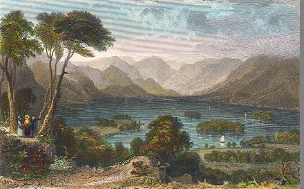DERWENT WATER, FROM THE CASTLE HEAD, CUMBERLAN