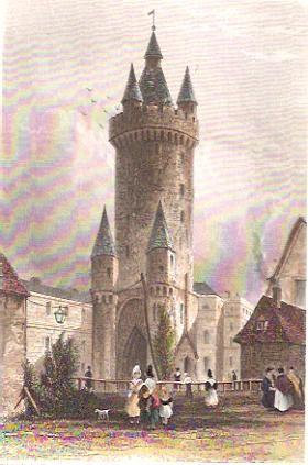 FRANKFORT : THE ESCHENHEIM GATE, engraving, print, pla
