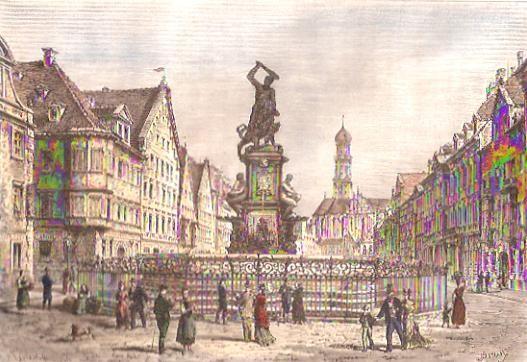 AUGSBOURG, engraving, plates, print
