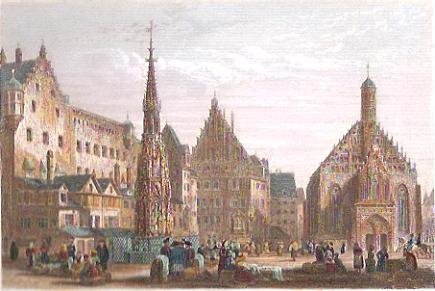 NUREMBERG, engraving, plates, print