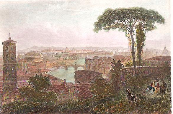 ROME, Italy, engraving, plates, print