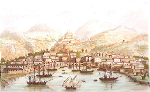 SYRA, vue prise du bateau à vapeur