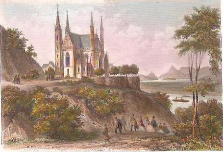 ST APOLLINARISKIRCHE, Germany, stich, engraving, gravu