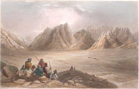 PLAIN ER-RAHAH, MT SINAI, Holyland, Israël, Palestinia, engravin