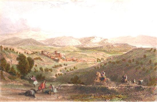 BETHANY, Holyland, Israël, Palestinia, engraving, gravure, print
