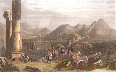 TADMOR, Palmyre, Syria, engraving, print, middle east
