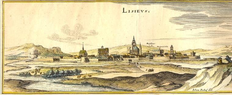 LISIEUS, 18 TH, engraving, france, print, plates