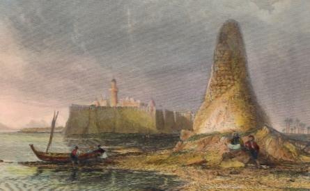 TUNISIE : BURJ-ER-ROOS, OR THE TOWER OF SKULLS. Island of Gerbeh