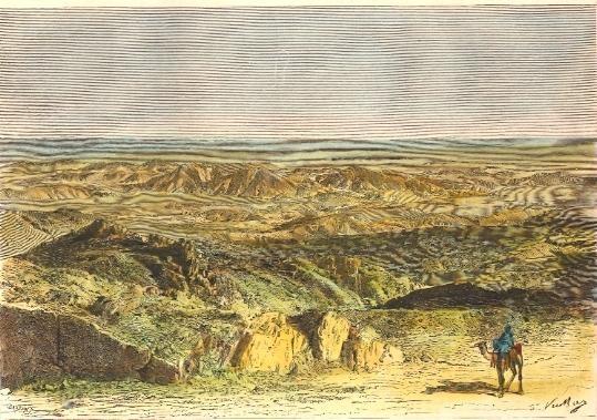 ALGÉRIE : LE SAHARA, COL DE SFA, Désert, Afrique du Nord, gravur