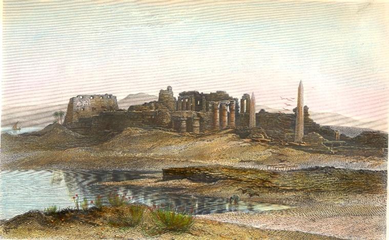 KARNAK, RUINES DU GRAND TEMPLE, Egypt, engraving, print, plates