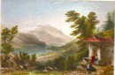 MOUNT PILATUS, FROM THE BRUNIG, Switzerland, engraving, plates