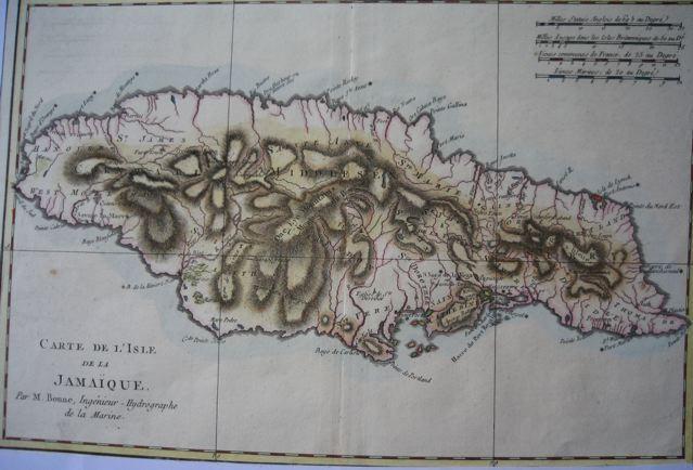 ISLE DE LA JAMAÏQUE, map 18th, Bonne