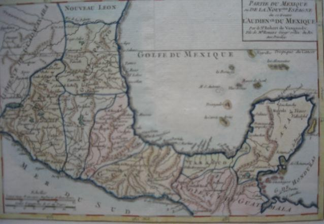 GOLFE DU MEXIQUE, map 18th, Robert