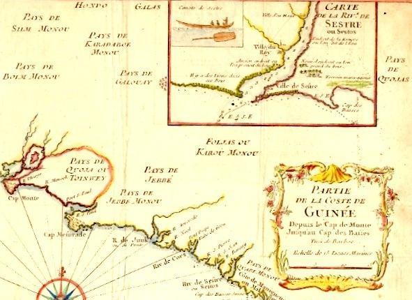 PARTIE DE LA COSTE DE GUINÉE, map 18th