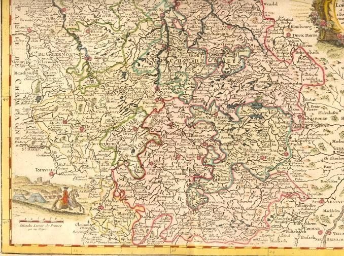 LA LORAINE, France, map 18th