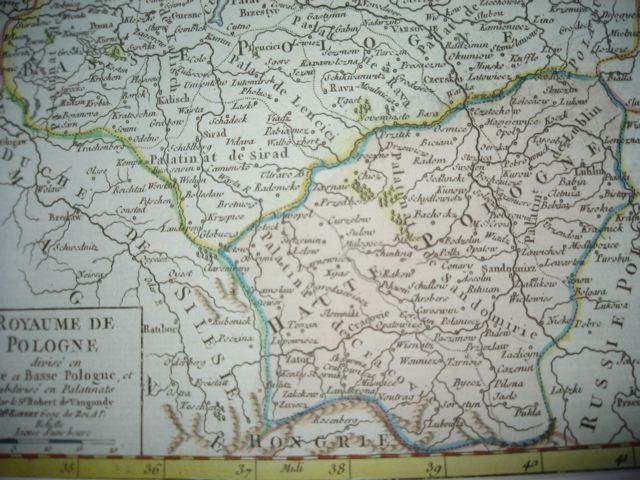 POLOGNE, Europe, carte du 18ème siècle