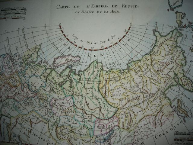 RUSSIE, Europe, Asie, map 18th