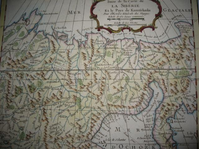 SIBÉRIE & PAYS DE KAMTFCHATKA, Russia, map 18th