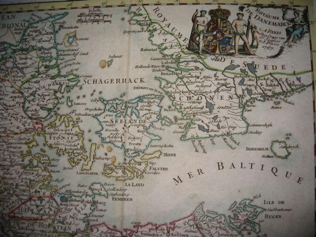 DENMARK, map 18th