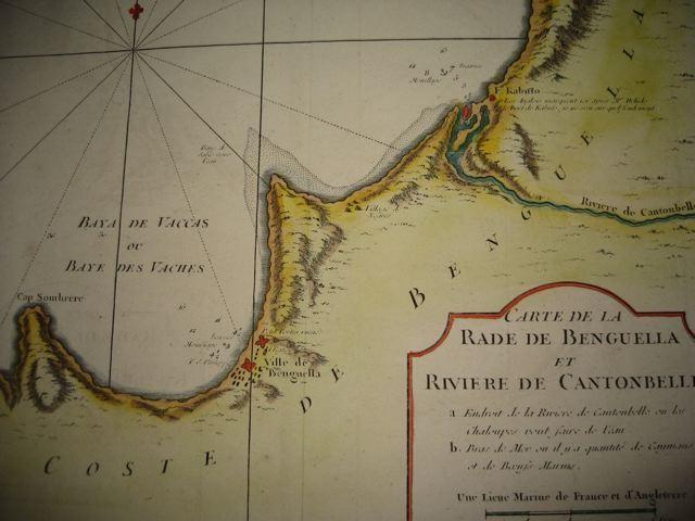BENGUELLA, RIVIÈRE CANTONBELLE, Africa, map 18th