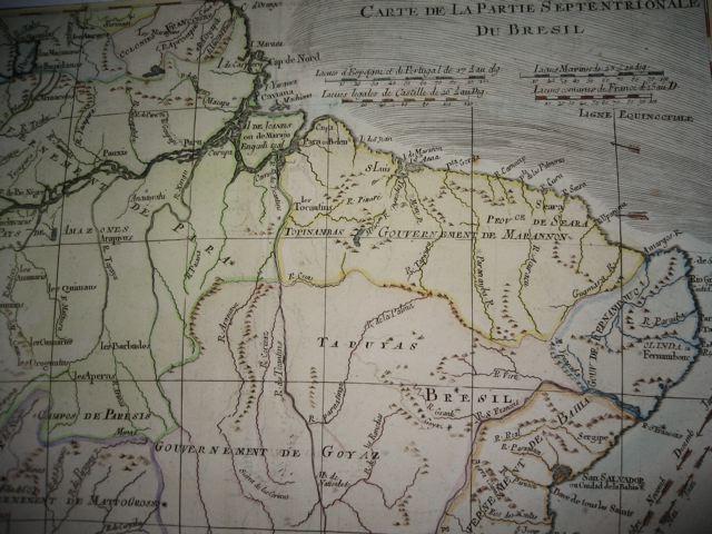 BRAZIL, Sud America, map 18th
