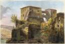 ILE FARNESINE, Italy, Véii, engraving, old print, plate