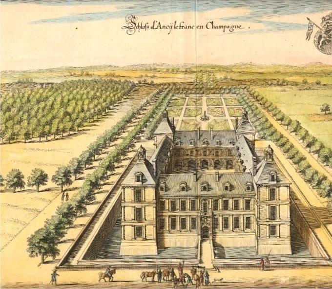 ANCY LE FRANC, france, champagne, engraving 18 th, castel