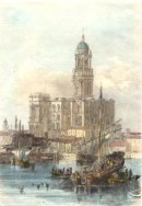 MALAGA, CATHEDRAL, Spain, old print, engraving, plate