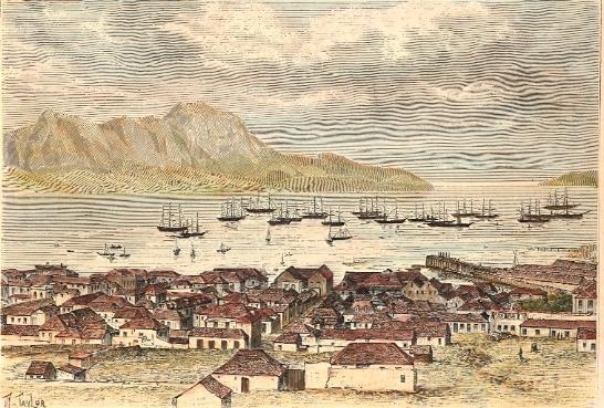 ILE ST VINCENT, Cap Vert, portugal, old print, engraving, plate