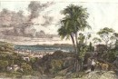 MESSINA, Italy, Sicily, old print, engraving, plate