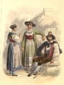 COSTUME, CANTONS D'URI ET DU TESSIN, Switzerland, old print, eng