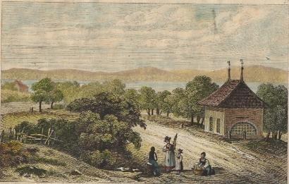 MORAT, Charnier, switzerland, old print, engraving, plate