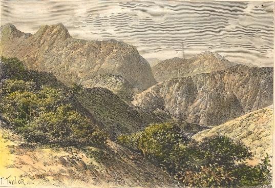 MADAGASCAR, ROUTE D'ANDOVORANTO, tananarive, île, gravure ancien